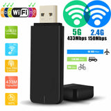 Dual Band 5G 2.4G 600Mbps WiFi USB Dongle Stick Adapter for MAG 250 254 256 322