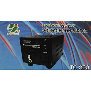 VOLTAGE UP/DOWN CONVERTER TC-800W (220/240V<=>110/120V)