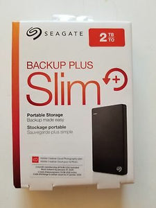 NEW SEALED SEAGATE BACKUP PLUS SLIM 2TB-USB 3.0