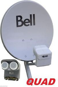 "20"" BELL HD SATELLITE DISH WITH QUAD DPP LNB"