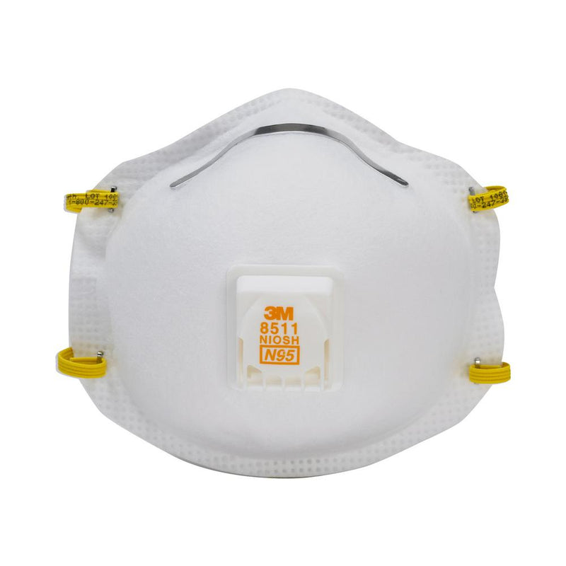 3M Cool Flow Sanding and Fibreglass Respirator 8511 Pack of 5