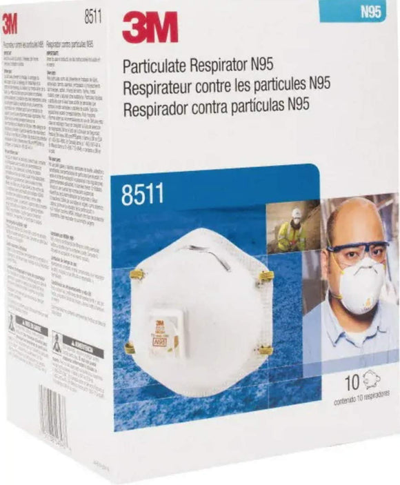 3M Cool Flow Sanding and Fibreglass Respirator 8511 Pack of 10