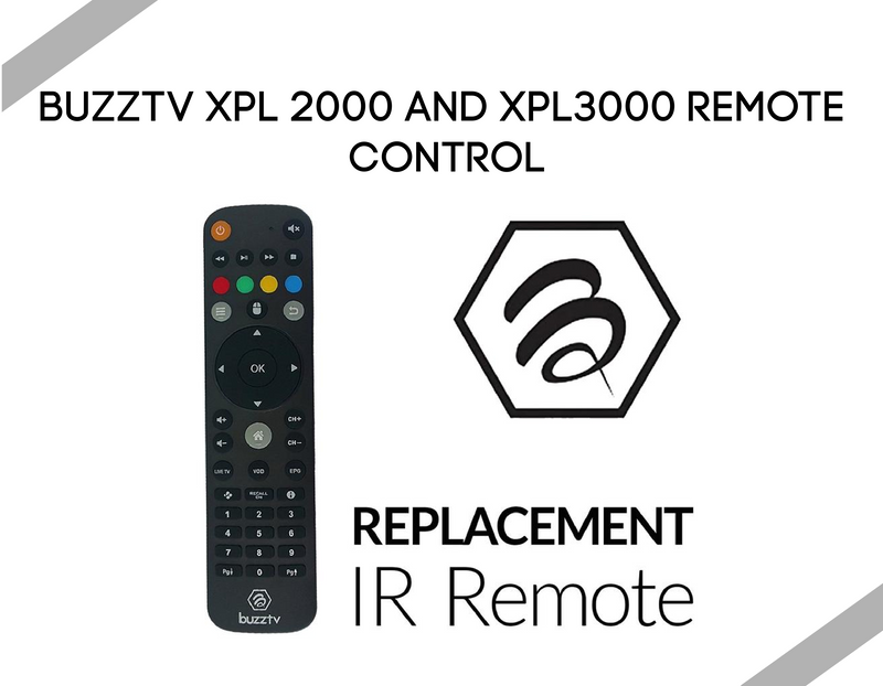 BuzzTv XPL 2000 and XPL3000 Remote Control