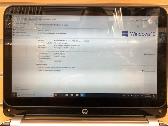 HP 215 G1 Notebook 11.6