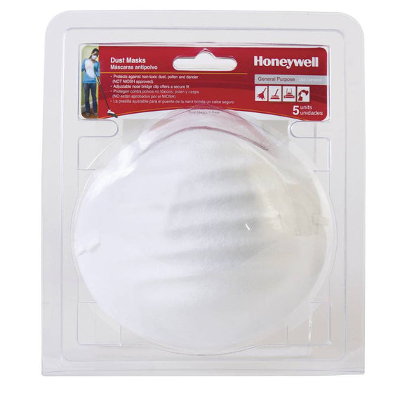 Honeywell Disposable Dust Mask RWS-54000 ( 2 x Packs of 5 ) - 10 Masks