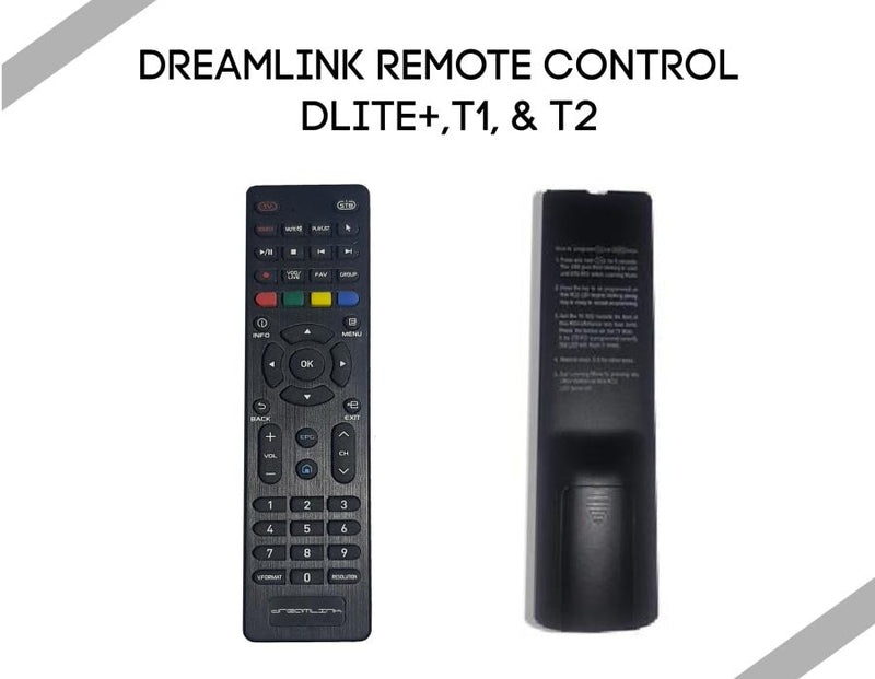 Dreamlink Remote Control for Dlite+,T1 T2 - Dreamlink-Formuler