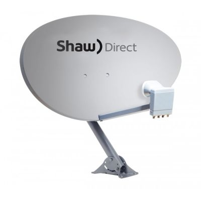 "Shaw Direct 75E (36""/ 90cm) Satellite Dish w/ Triple Satellite xKu Quad LNB"
