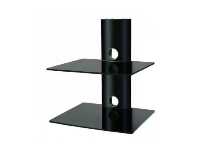 DVD/Receiver/STB Wall Mount Glass Shelf Unit