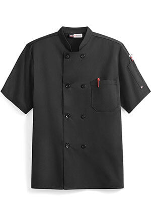 Chef coat with custom restaurant business logo embroidered