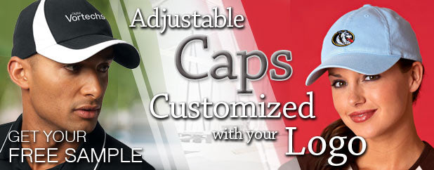 Custom Embroidered Adjustable Caps, Hats, and Visors