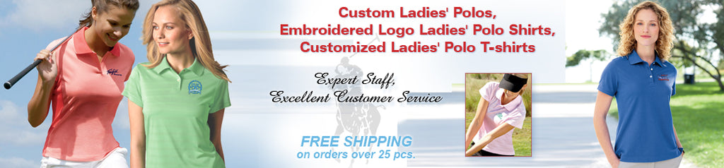 Custom Embroidered Women's Polos