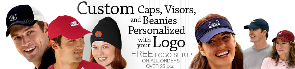 Call 1-877-304-1899 to talk to our embroidery experts at EZ Corporate  Clothing for personalized, logo embroidered custom corporate hats and  visors plus knit ...