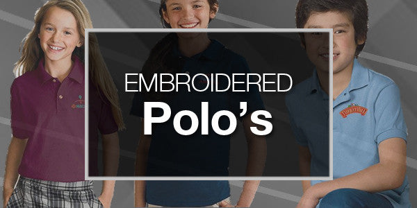 Youth Embroidered Polos