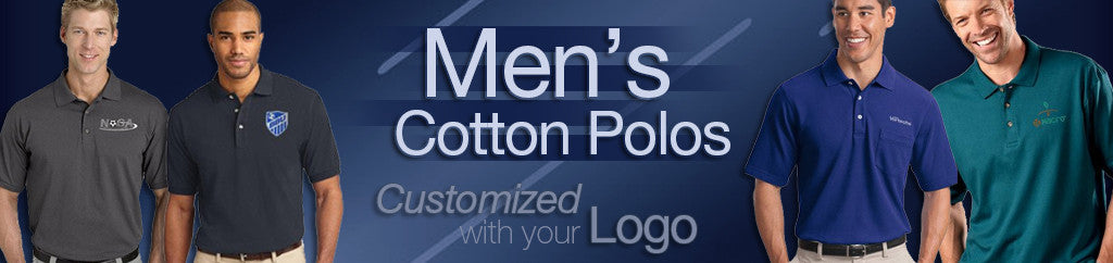Men's Embroidered Corporate Cotton Polos