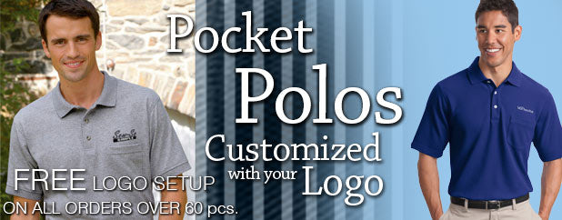 Custom Embroidered Pocket Polos