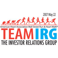 Corporate Logo American Heart Association Wall Street Run & Heart Walk IRG
