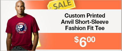Custom Printed Anvil Short-Sleeve Fashion Fit Tee