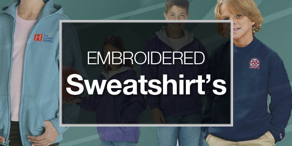 Youth Embroidered Sweatshirts