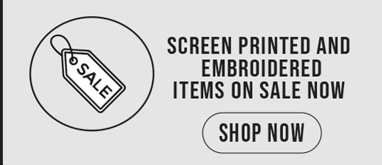 Embroidered and Screen Printed Apparel Sale