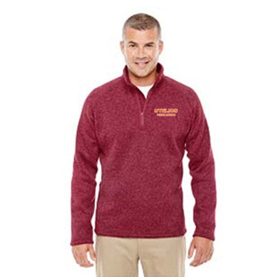 Devon & Jones Adult Bristol Sweater Fleece Half-Zip - DG792