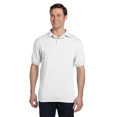Hanes 5.5oz, 50/50 Jersey Pocket Polo - EZ Corporate Clothing  - 10