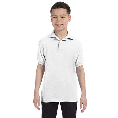 Hanes Youth 50/50 EcoSmart Jersey Knit Polo - EZ Corporate Clothing  - 9