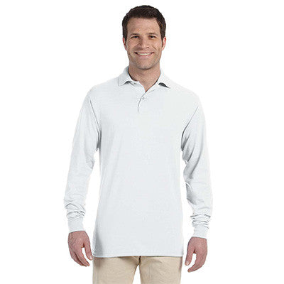 Jerzees 5.6oz, 50/50 Long Sleeve Jersey Polo with SpotShield - EZ Corporate Clothing  - 6