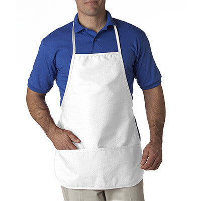 UltraClub Large Two-Pocket Bib Apron - EZ Corporate Clothing  - 7