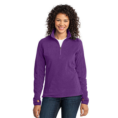 Port Authority Ladies Microfleece 1/2 Zip Pullover - EZ Corporate Clothing  - 2