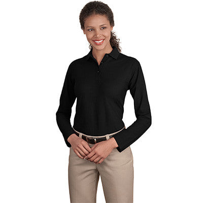 Port Authority Ladies Silk Touch Longsleeve Sport Shirt - EZ Corporate Clothing  - 2