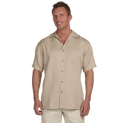 Harriton Mens Bahama Cord Camp Shirt - EZ Corporate Clothing  - 7