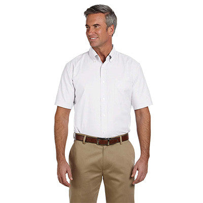 Harriton Mens Short-Sleeve Oxford with Stain-Release - EZ Corporate Clothing  - 5