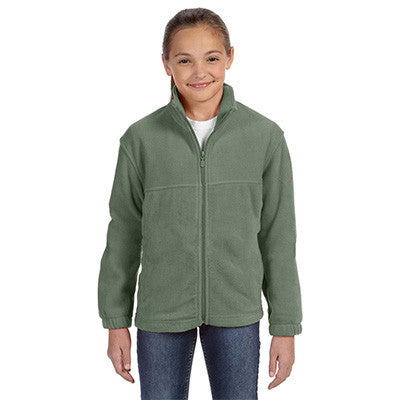 Harriton Youth 8oz. Full-Zip Fleece - EZ Corporate Clothing  - 5