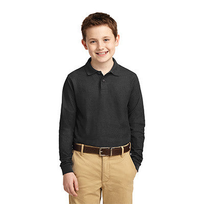 Port Authority Youth Silk Touch Long Sleeve Polo - Printed - EZ Corporate Clothing  - 3