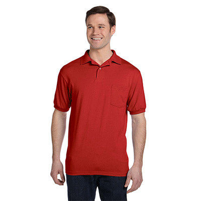 Hanes 5.5oz, 50/50 Jersey Pocket Polo - EZ Corporate Clothing  - 5