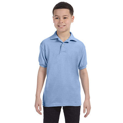 Hanes Youth 50/50 EcoSmart Jersey Knit Polo - EZ Corporate Clothing  - 7