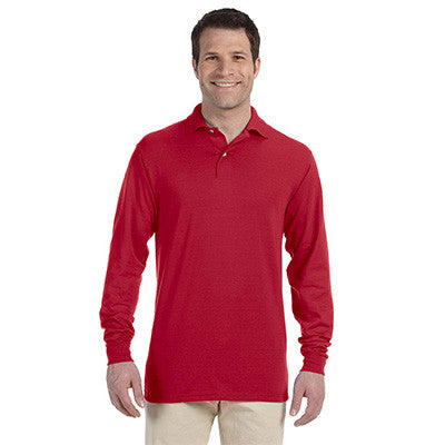 Jerzees 5.6oz, 50/50 Long Sleeve Jersey Polo with SpotShield - EZ Corporate Clothing  - 5