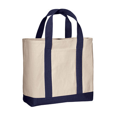 Port & Company Two-Tone Shopping Tote - EZ Corporate Clothing  - 3