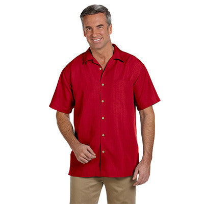 Harriton Mens Barbados Textured Camp Shirt - EZ Corporate Clothing  - 9