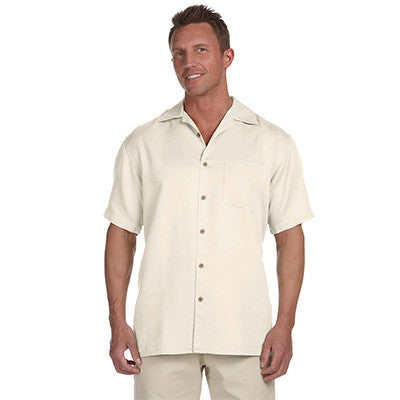 Harriton Mens Bahama Cord Camp Shirt - EZ Corporate Clothing  - 4