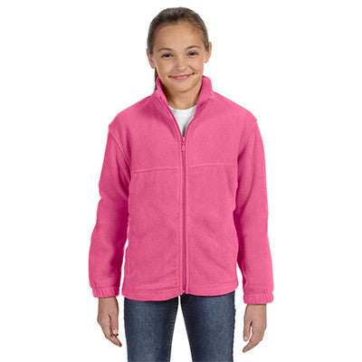 Harriton Youth 8oz. Full-Zip Fleece - EZ Corporate Clothing  - 4