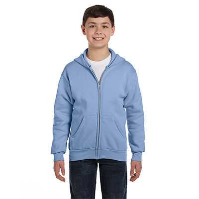 Hanes Youth Comfortblend Ecosmart Full-Zip Hoodie - EZ Corporate Clothing  - 9