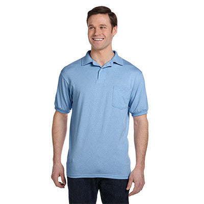 Hanes 5.5oz, 50/50 Jersey Pocket Polo - EZ Corporate Clothing  - 7
