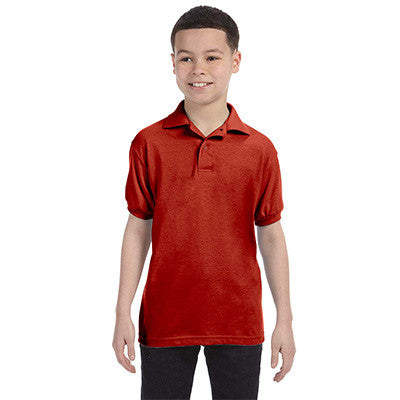 Hanes Youth 50/50 EcoSmart Jersey Knit Polo - EZ Corporate Clothing  - 5