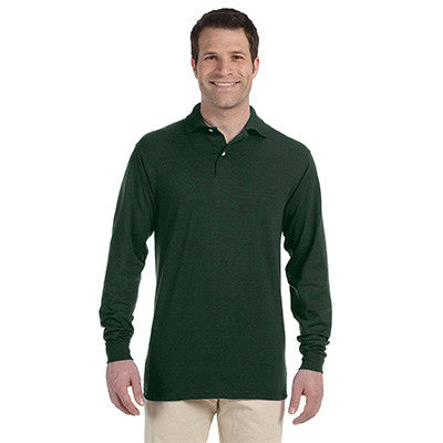 Jerzees 5.6oz, 50/50 Long Sleeve Jersey Polo with SpotShield - EZ Corporate Clothing  - 3