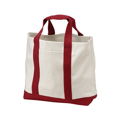 Port & Company Two-Tone Shopping Tote - EZ Corporate Clothing  - 4