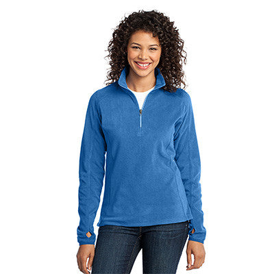 Port Authority Ladies Microfleece 1/2 Zip Pullover - EZ Corporate Clothing  - 4