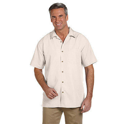 Harriton Mens Barbados Textured Camp Shirt - EZ Corporate Clothing  - 4