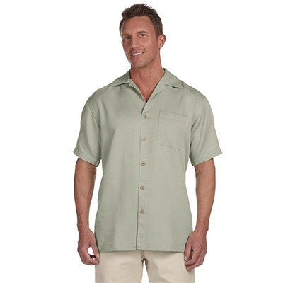 Harriton Mens Bahama Cord Camp Shirt - EZ Corporate Clothing  - 5