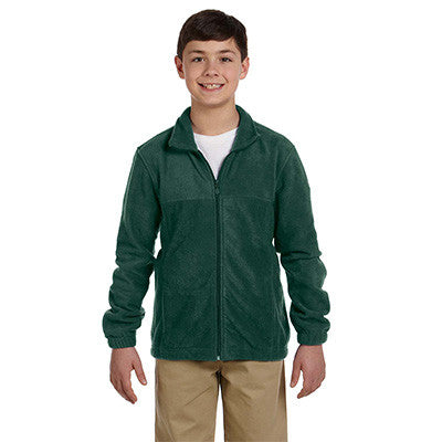 Harriton Youth 8oz. Full-Zip Fleece - EZ Corporate Clothing  - 6